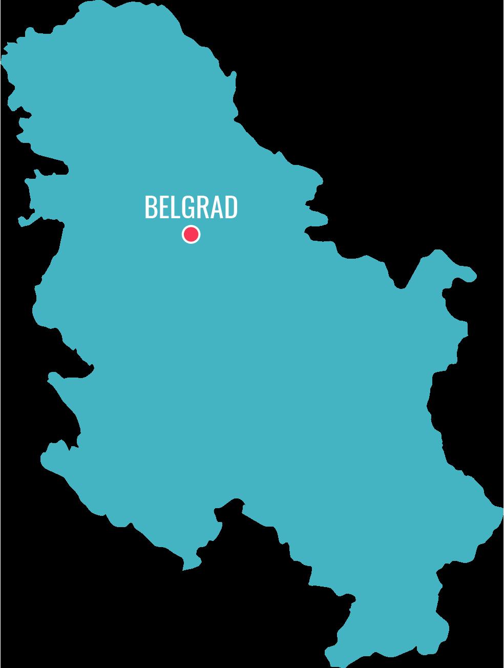 Mapa Serbia
